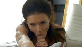 Brunette hooker gets her drilled insanely hot
