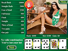 Try a new type of poker with breathtaking whore